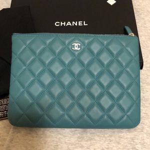 Chanel Classic quilted clutch